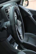 NEW Black PVC Leather Steering Wheel Cover Audi BMW Luxury Sport 38cm non-slip