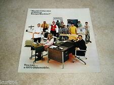 1970 Oldsmobile Full Line 442 Cutlass Toronado Delta 88 DELUXE sales brochure