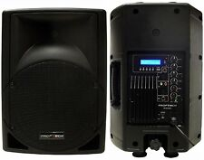 "New 10"" 250W Professional PA,DJ Powered Speaker USB/SD,Mic.RCA Input LCD Screen"