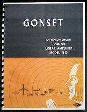 GONSET GSB201 GSB-201 Model 3340 Linear Amplifier Instruction Manual