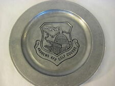 """OLD VINTAGE ANDREWS AFB GOLF COURSE WILTON MOUNT PEWTER PLATE, 11"""" DIAMETER"""