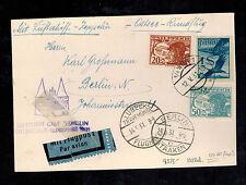 1931 Vienna Austria Graf Zeppelin cover to Berlin Germany Baltic Flight LZ 127