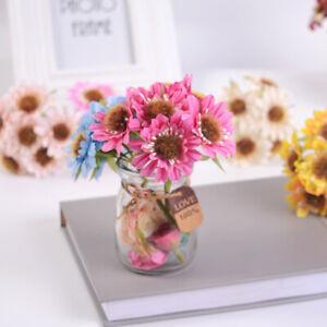 6 heads Artificial Silk Gerbera Daisy Faux Flowers Bunch Party Garden Home QN UK