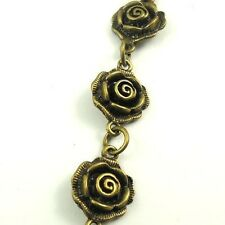 30426 Antiqued Bronze Vintage Rose Flower Necklace Bracelet Link Chain 90cm