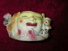 Antique/Vintage Hey diddle diddle/cat & the fiddle planter/bowl very rare/unique