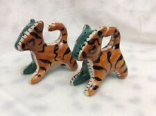 VINTAGE TIGERS LEOPARD SALT &  PEPPER SHAKERS JUNGLE