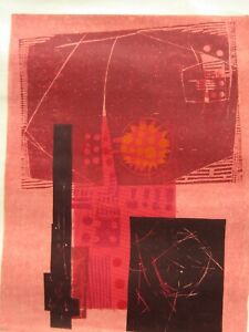 Valenzuela Latin American PERIOD Abstract Signed & #d Silkscreen Print #1 NO RES
