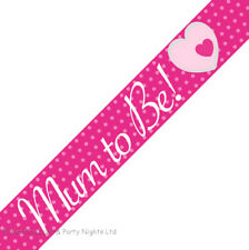 9ft Pink + White Mum To Be Baby Shower Foil Banner Party Decoration New Mummy