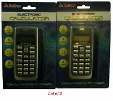 Tectron Cell Phone Style Calculator * 1 AA Battery  Carry Strap Lot of 2 New