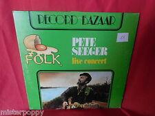 PETE SEEGER Live Concert 1967 LP ITALY 1970s EX+ Bob Dylan