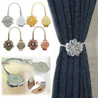 Magnetic Crystal Curtain Tiebacks Tie Backs Buckle Clips Holdbacks Home Decor