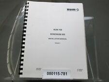 Num 760 Robonum 800 Installation Manual Vol 1 08/87 No 938565 Original