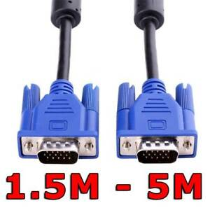 1.5M 3M 5M VGA SVGA 15pin Male to Male Extension PC Monitor LCD Screen Cable