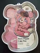 Vtg Wilton Party Popple Cake Pan Tin Mold 2105-2056 1985 TCFC EUC Popples