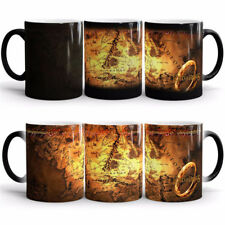 Lord of The Rings Mug Magic Heat Changing Coffee Cup Tea Drink Middle Earth Map