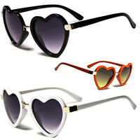Vintage Retro Fashion Lolita Heart Shaped Aviator Plastic Frame Women Sunglasses