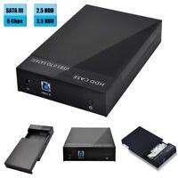 "USB 3.0 2.5""/3.5"" SATA Hard Drive Dock Station HDD Enclosure External Disk Case"