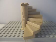 LEGO  DARK TAN SPIRAL STAIRCASE (8 STEPS COMPLETE ASSEMBLY) LT TAN BASE PLATE
