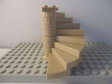 LEGO Dark Tan Spiral Staircase (8 passaggi completa assieme) LT Tan piastra di base