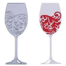 Wine Glass Cutting Dies Metal Stencil DIY Scrapbooking Embossing Paper Decor Art