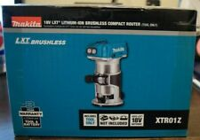 Makita XTR01Z 18V LXT Lithium-Ion Brushless Cordless Compact Router NEW IN BOX