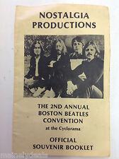 The Beatles - 2nd Annual Boston Beatles Convention Souvenir Booklet (program)
