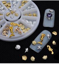 New DIY 3D Alloy Nail Art Tips Decoration Glitter Rhinestones Wheel Hot