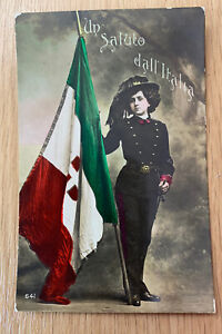 WW Italy Patriotic Postcard. Salute The Italians 🇮🇹
