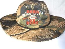 "Boonie Hat Mens Camo Vented Camouflage Fishing Hunting Cap ""Born to Hunt"""
