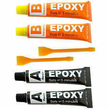 Epoxy Resin Glue Adhesive Kit - 2 Pack Repair Metal Ceramic Rubber Glass UK
