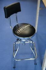Craftsman Workshop Counter Stool Adjustable Hydraulic Bench Seat Garage BLACK