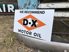 Antique Vintage Old Style DX Oil Service Station Gas Oil Sign