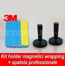 Coppia magneti accessori calamite + spatola 3M pellicole car wrapping adesivi