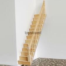1:12 Assembled Stairs Right Bannister Rail Staircase Dolls House Miniature