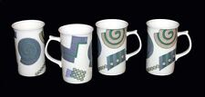 4 Mikasa LIFE STYLE Geometric Matte Finsh Cappuccino Mugs NWOT DISC '96 2 Avail