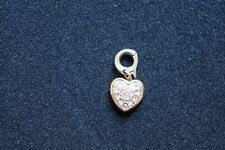 Swarovski Clear Crystal HEART Charm Rose Gold /Rhodium Plated #5052540 Authentic