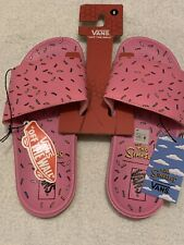 Simpsons x Vans - Slide On D'OH!-Nut Sandal - Donut Mens Size 6 Women's 7.5