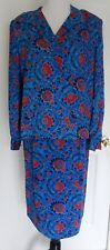 FLORA KUNG NY 2 PC 100% SILK LONG SLEEVED SKIRT SET GREAT PRE-OWNED CONDITION!