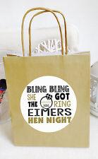 Personalizzato Bling Bling Hen Night Party Festa Borse, disponibile in 12 COLORI