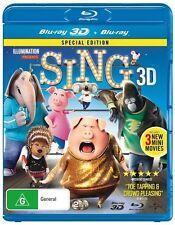 Sing 3D (2-Disc Set) NEW 3D + 2D Blu-Ray