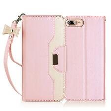 """PU Leather Wallet Case Stand Cover with Cosmetic Mirror for Apple iphone 7 4.7"""""""