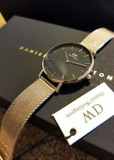 Daniel Wellington DW00100161 Rose-Gold Black Dial Petite Melrose Women's Watch