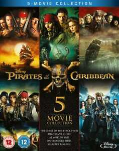 PIRATES OF THE CARIBBEAN 5 Moive Collection Blu-ray (Region B) Curse Black Pearl