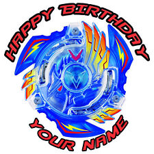 BEYBLADE BURST PERSONALISED EDIBLE ICING IMAGE PARTY CAKE TOPPER ROUND
