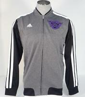 Adidas NBA Phoenix Suns Gray Zip Front Track Jacket Mens NWT