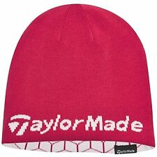 TaylorMade Reversible Thermo Beanie - Pink and White Golf Beanie