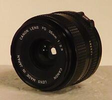 New listing Canon Fd 35mm f/2.8 Mf Lens w/ caps