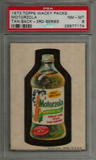 1973 Topps Wacky Packages Motorzola 3rd Series Tan PSA 8 NM-MT Non-sport Card
