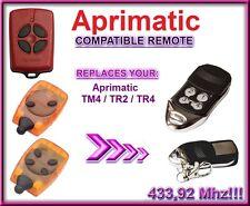 Aprimatic TR2 / TR4 / TM4 Compatible télécommande, 4-canaux 433,92Mhz