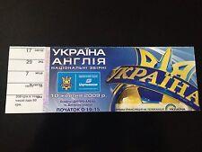 TICKET MATCH CL WC 2010 UKRAINE - ENGLAND 2009
